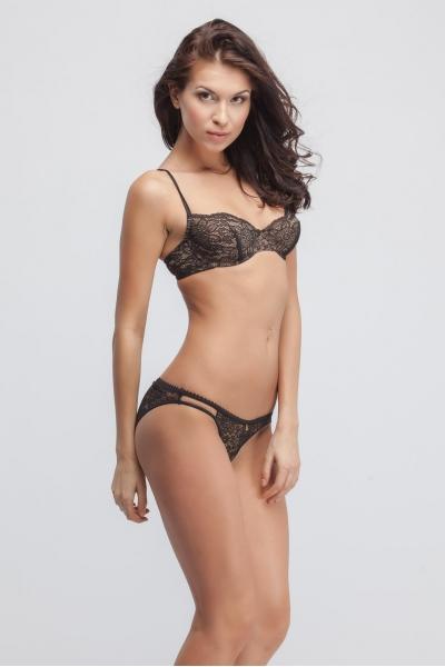Трусы Hoarfrost black bikini