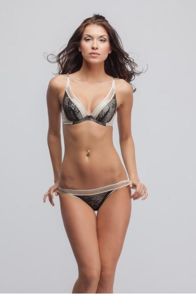 Трусы Cheeky girl black bikini
